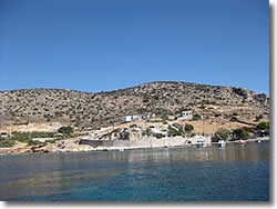 Mirsini bay at Skhinoussa or Schinoussa island at Minor Cyclades