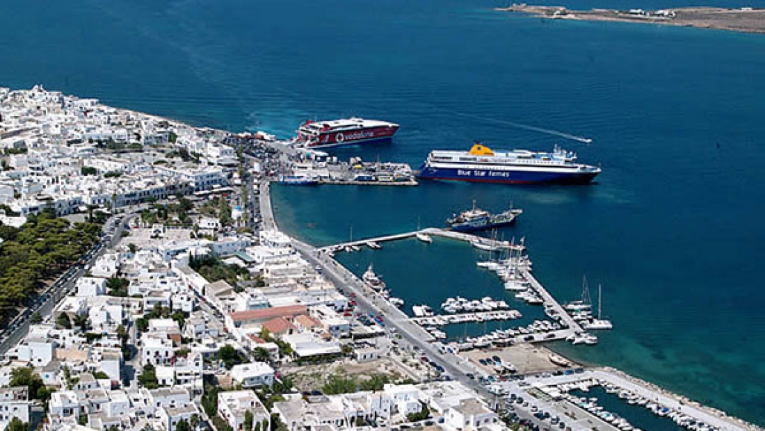 Paros, Parikia sailing charter station for Cyclades islands